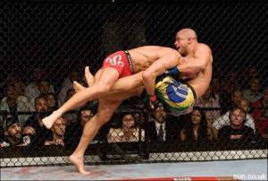 Alves (No one really) is unable to stop GSP's take down