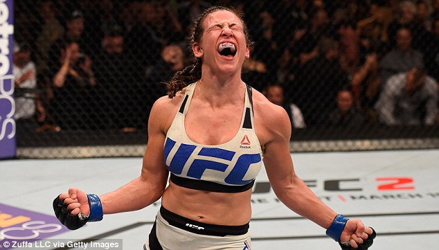Miesha after winning the UFC bantamweight title